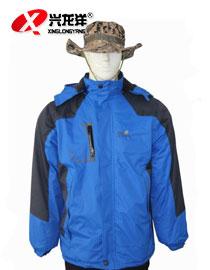 男装加大冲锋衣 户外服登山男绒 野营运动棉衣三合一HW916