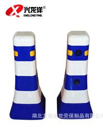蓝白隔离墩塑料水马防撞桶护栏 交通道路分流筒 交通路障设护栏JT775