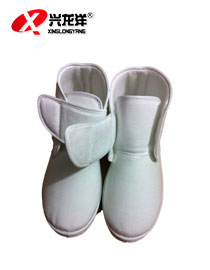 优质防静电棉鞋高邦冬季<font color='red'>保暖鞋</font>工作鞋不掉毛更防寒鞋深蓝色或白色FJD830