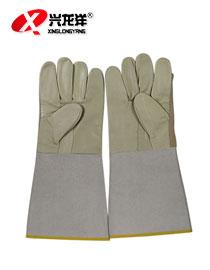 加长帆布电焊手套拼接手套皮革手套ST193