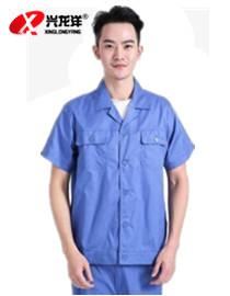 短袖工作服套装春夏劳保服电焊焊工工厂汽修春夏季车间厂服GZF943