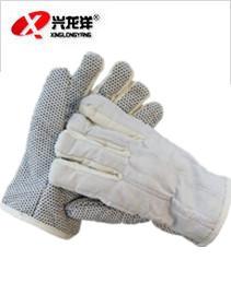 绒布里 大帆布棉五指防滑隔热手套 耐高温手套ST308