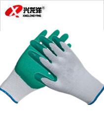 L239 十针粗涤棉纱线乳胶皱纹手套ST212