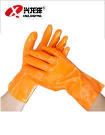 耐酸碱耐油手套 浸塑手套 防滑耐磨劳保手套厂家直销ST296